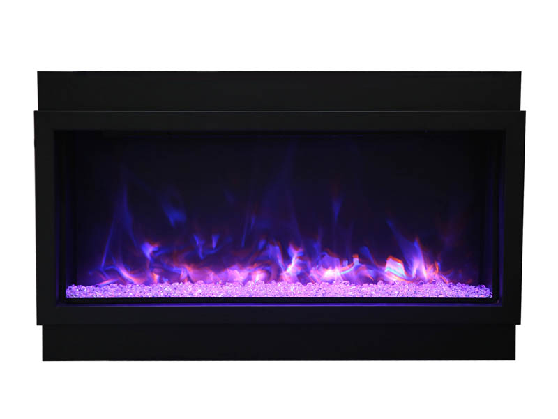 Amantii Panorama XT Electric Fireplace - Blue + Yellow + Purple Top