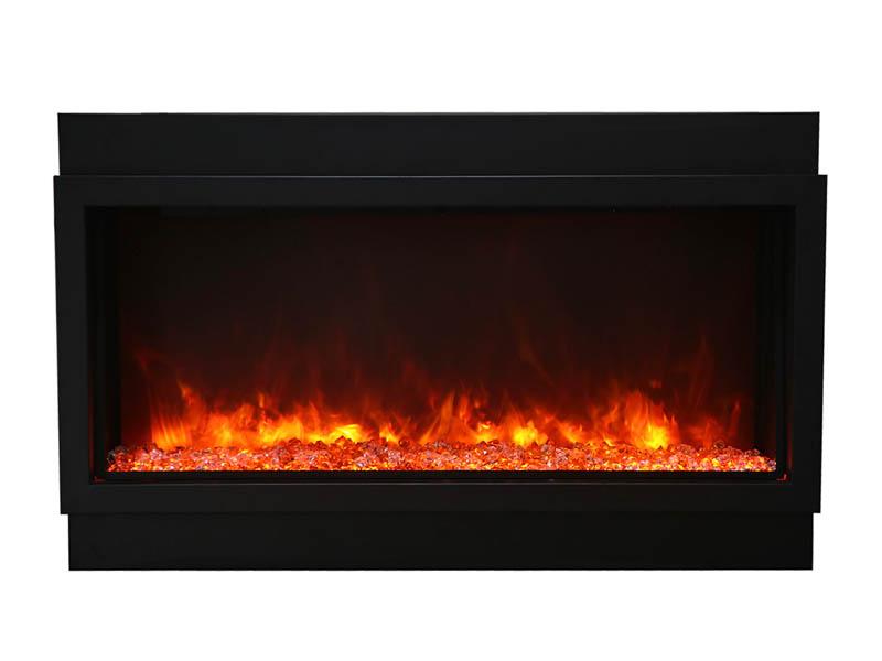 Amantii Panorama XT Electric Fireplace - ember + yellow + orange