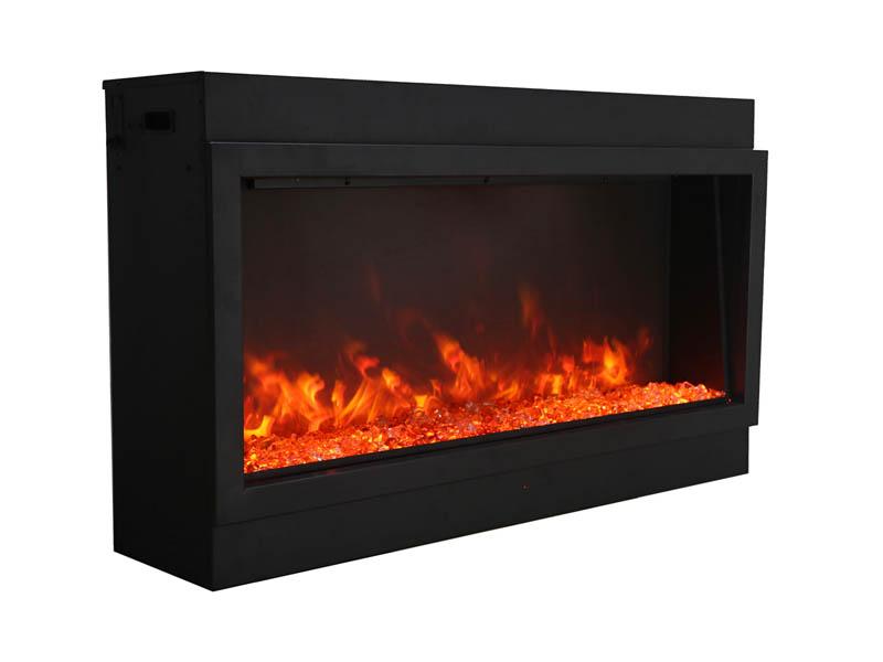 Amantii Panorama XT Electric Fireplace - ember - yellow + orange