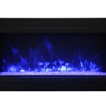 Amantii Panorama XT Electric Fireplace - Clear + Blue + Blue Top