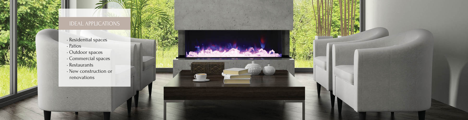 TruView-72 electric fireplace