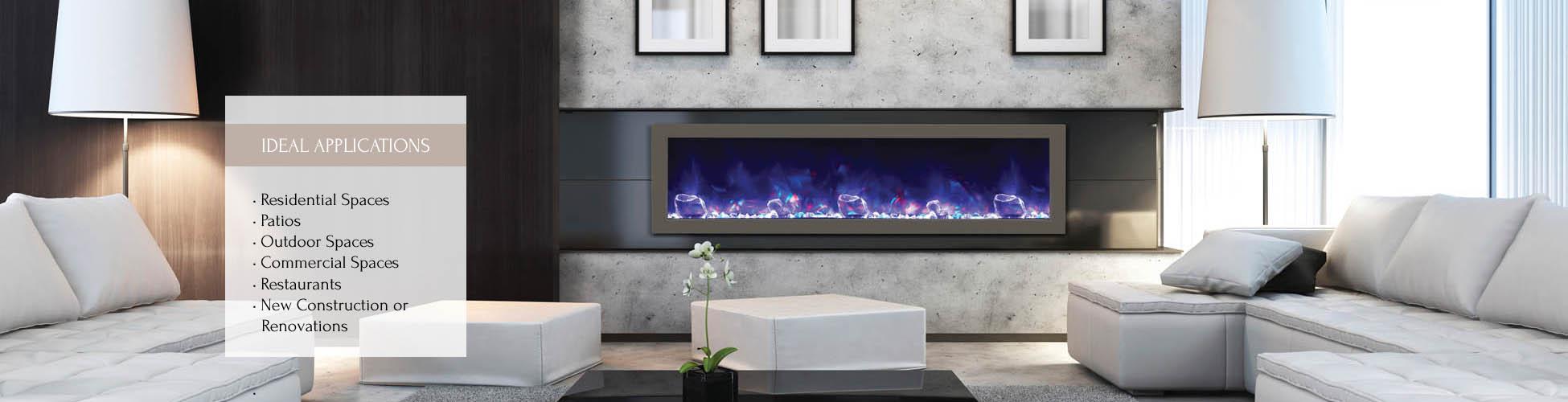 BI-60-SLIM electric fireplace by Amantii