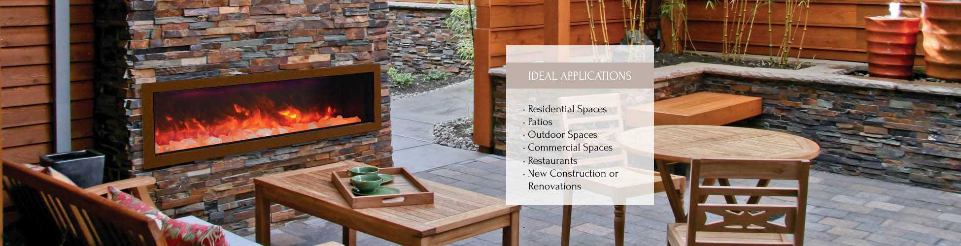 Sierra Flame outdoor electric fireplace