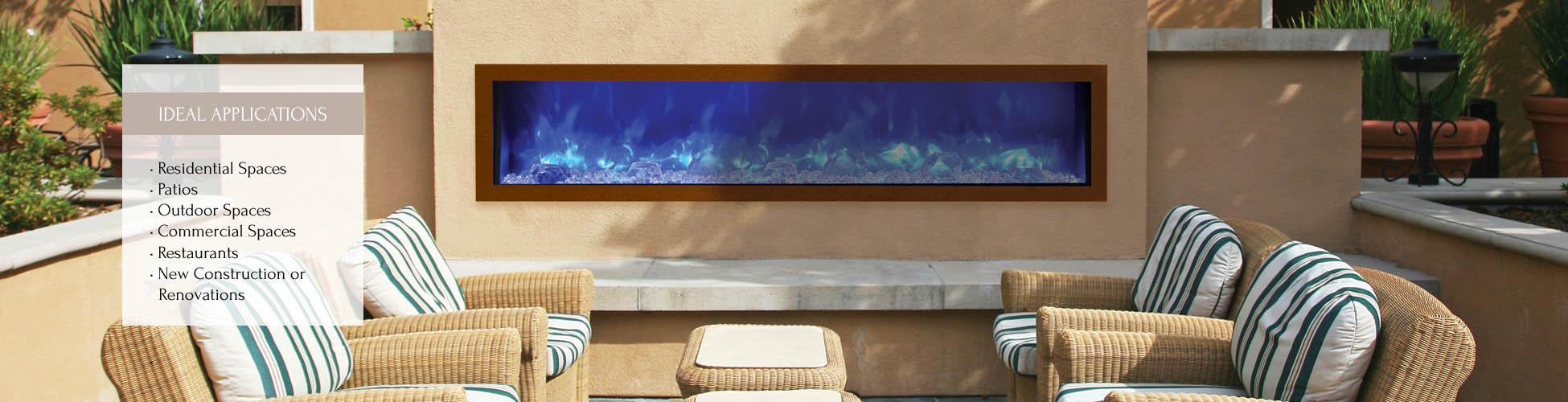 BI-50-SLIM electric fireplace by Amantii