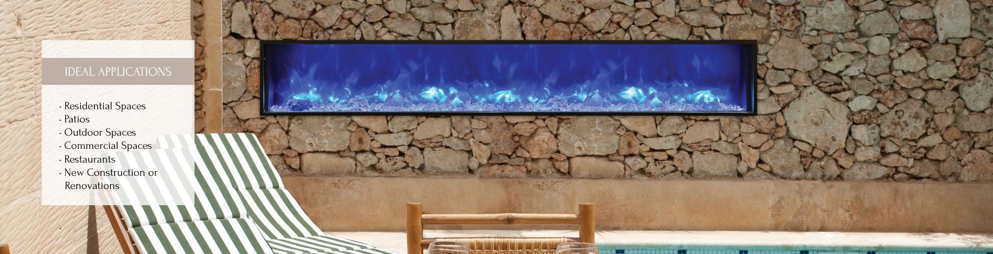 BI-88-SLIM electric fireplace by Amantii