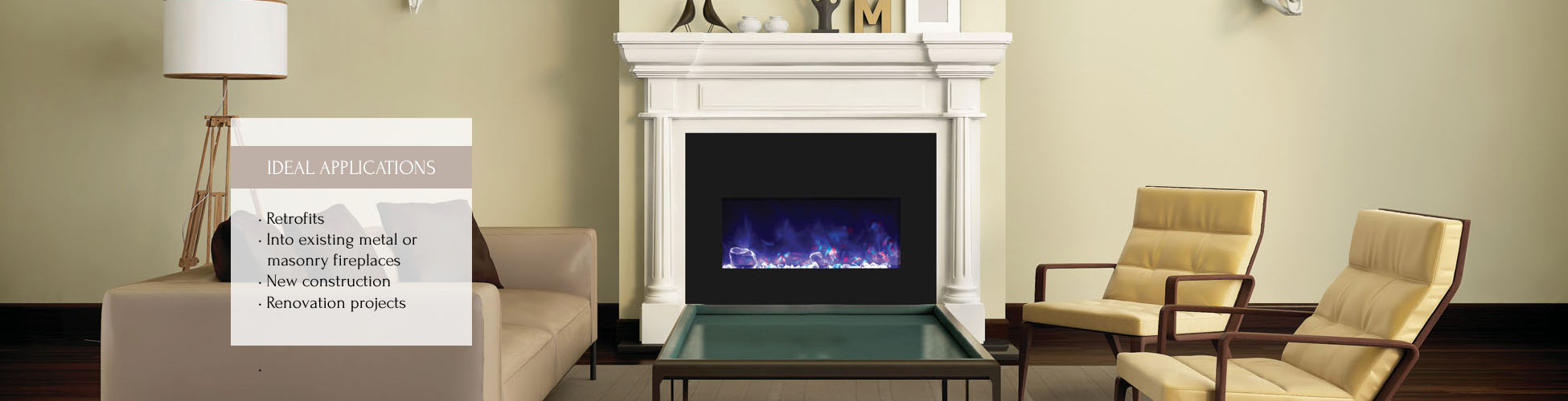 Amantii electric fireplace insert