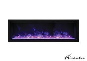 Amantii BI-50 extra slim electric fireplace