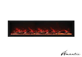Extra tall electric fireplace by Amantii