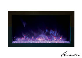Amantii XS-30 extra slim electric fireplace