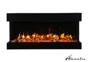 40-TRU-VIEW-SLIM – 3 Sided Electric Fireplace