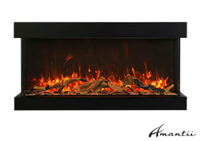 40-TRU-VIEW-XL XT– 3 Sided Electric Fireplace