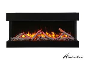50-TRU-VIEW-SLIM – 3 Sided Electric Fireplace