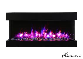 72-TRU-VIEW-SLIM – 3 Sided Electric Fireplace
