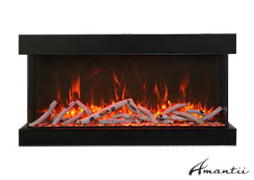72-TRU-VIEW-XL XT – 3 Sided Electric Fireplace
