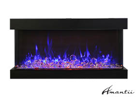 88-TRU-VIEW-XL XT – 3 Sided Electric Fireplace